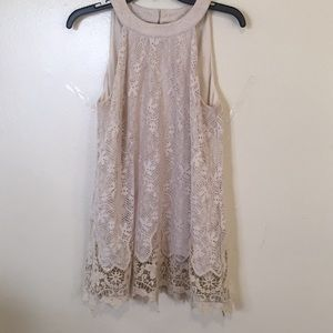 Altar'd State Lace Sleeveless Blouse